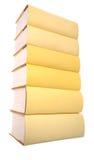 Stapel der gelben Bücher lizenzfreie stockbilder