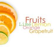 Stapel der geschnittenen Frucht Lizenzfreies Stockfoto