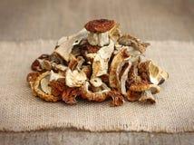 Stapel der getrockneten Pilze Lizenzfreies Stockfoto