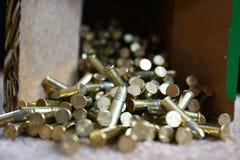 Stapel der Gewehrkugeln Stockfotos