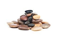 Stapel der glatten Steine stockfoto