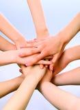 Stapel der Hände Lizenzfreies Stockfoto