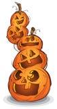 Stapel der Halloween-Kürbise lizenzfreie abbildung