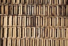 Stapel der Holzkiste stockfoto
