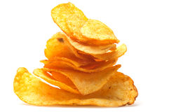 Stapel der Kartoffelchips Stockbild