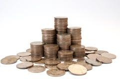 Stapel der Münze Stockfotos