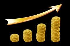 Stapel der Münze Stockfoto