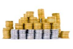 Stapel der Münzen Lizenzfreies Stockbild