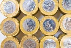 Stapel der Münzen Stockfotos