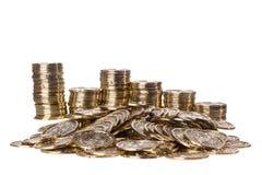 Stapel der Münzen Stockfotografie