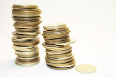 Stapel der Münzen Lizenzfreie Stockbilder