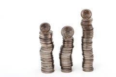 Stapel der Münzen Stockbilder