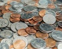 Stapel der Münzen und der Änderung Lizenzfreie Stockbilder