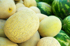 Stapel der Melonen Lizenzfreie Stockfotos