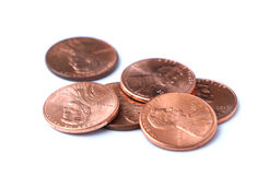 Stapel der Pennys Lizenzfreie Stockfotografie
