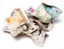 Stapel der Pounds lizenzfreies stockfoto