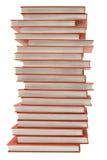 Stapel der roten Bücher mit Pfad Stockfotografie