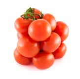 Stapel der roten Tomate über weißem Hintergrund Stockbild