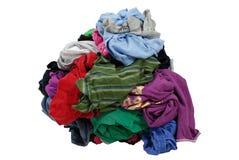 Stapel der schmutzigen Wäscherei stockfotos