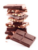 Stapel der Schokolade stockfoto