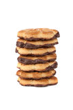 Stapel der Schokoladenkekse Stockfoto