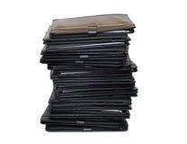 Stapel der schwarzen Faltblätter Lizenzfreies Stockbild