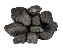 Stapel der schwarzen Kohle stockfotografie