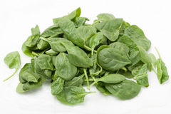 Stapel der Spinat-Blätter lizenzfreies stockfoto