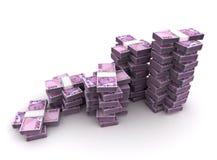 Stapel der türkischen Lira Lizenzfreie Stockfotos