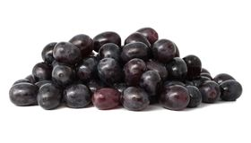 Stapel der Trauben getrennt auf Weiß Stockfotografie