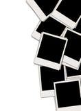 Stapel der unbelegten Polaroide Stockfoto
