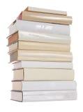 Stapel der weißen Bücher stockbild