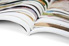 Stapel der Zeitschriften stockbild
