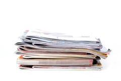 Stapel der Zeitschriften Stockfotografie