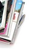 Stapel der Zeitschriften-Nahaufnahme Stockfotografie