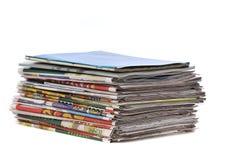 Stapel der Zeitung stockbild