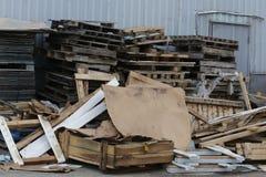 Stapel des Abfalls und des Rückstands Stockbilder