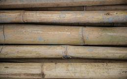Stapel des alten Bambusses Lizenzfreie Stockfotos