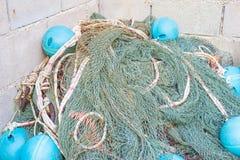 Stapel des alten Fischnetzes Lizenzfreies Stockfoto