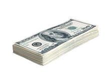 Stapel des Amerikaners hundert Dollar Stockbilder