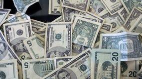 Stapel des amerikanischen Geldes Stockbild