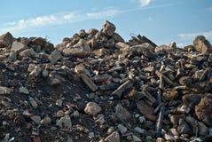 Stapel des Aufbau-Abfalls Stockfoto