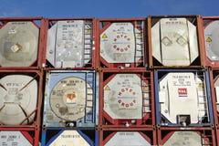 Stapel des Behälterbehälters Lizenzfreie Stockbilder