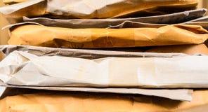 Stapel des braunen Umschlags Lizenzfreies Stockbild