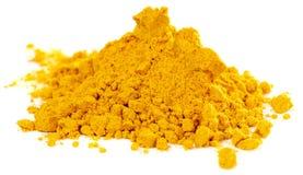 Stapel des Currypulvers Lizenzfreie Stockbilder
