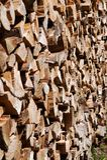 Stapel des cutted Holzes Lizenzfreies Stockfoto