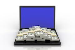 Stapel des Dollars Lizenzfreie Stockfotografie