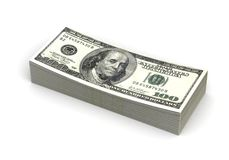 Stapel des Dollars Lizenzfreies Stockfoto