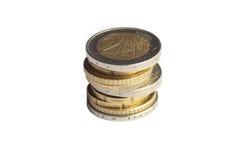 Stapel des Euro stockfotografie