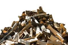 Stapel des gehackten Feuerholzes Lizenzfreie Stockfotos